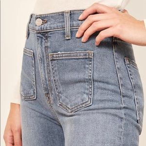 Reformation High and Skinny Patch Pocket Jeans 26